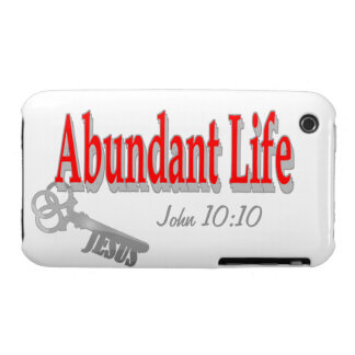 Abundant Life: The Key - v1 (John 10:10) Case-Mate iPhone 3 Cases