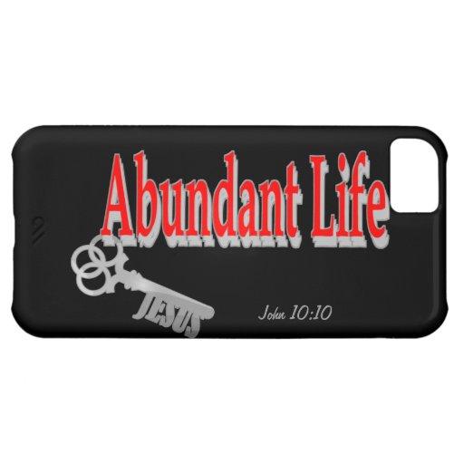 Abundant Life: The Key - v1 (John 10:10) iPhone 5C Cases