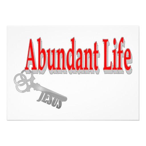Abundant Life: The Key - v1 (John 10:10) Personalized Announcements