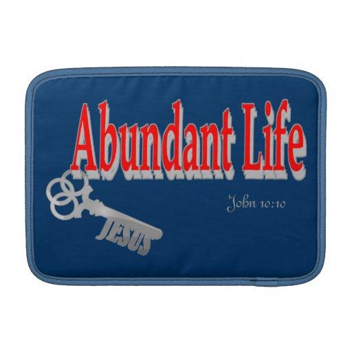 Abundant Life: The Key - v1 (John 10:10) MacBook Sleeves