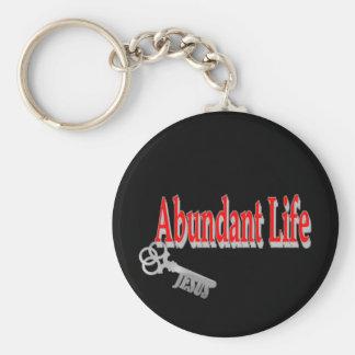 Abundant Life: The Key - v1 (John 10:10) Keychain