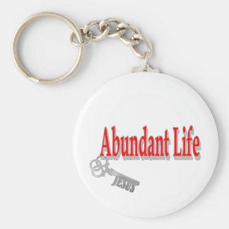 Abundant Life: The Key - v1 (John 10:10) Basic Round Button Key Ring