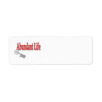 Abundant Life: The Key - v1 (John 10:10) Return Address Label