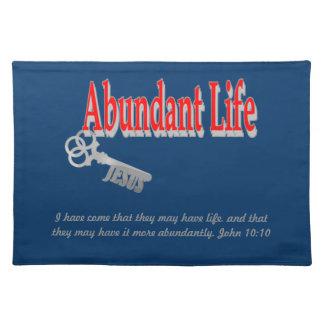 Abundant Life: The Key - v1 (John 10:10) Place Mat