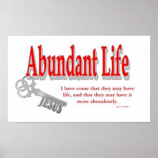 Abundant Life: The Key - v1 (John 10:10) Poster