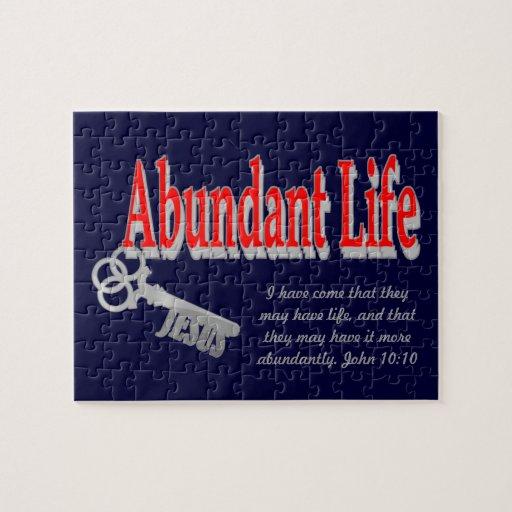 Abundant Life: The Key - v1 (John 10:10) Jigsaw Puzzle