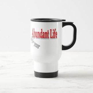 Abundant Life: The Key - v1 (John 10:10) Stainless Steel Travel Mug