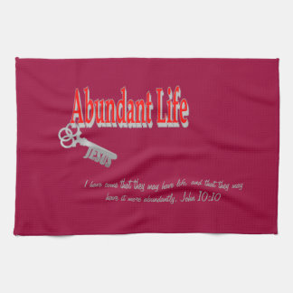 Abundant Life: The Key - v1 (John 10:10) Towels