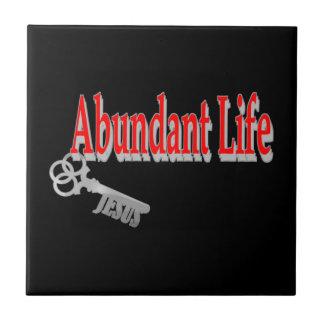 Abundant Life: The Key - v1 (John 10:10) Tile