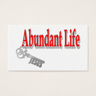 Abundant Life: The Key -v1 John 10:10 Tract Card /