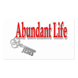 Abundant Life: The Key -v1 John 10:10 Tract Card / Pack Of Standard Business Cards