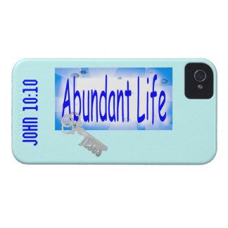 Abundant Life: The Key - V2 (John 10:10) iPhone 4 Cases