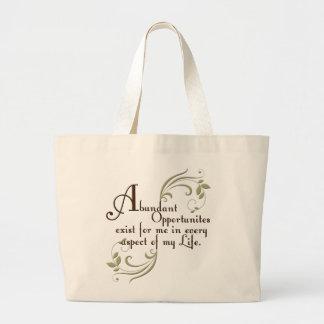 Abundant Opportunities Affirmation Canvas Bag