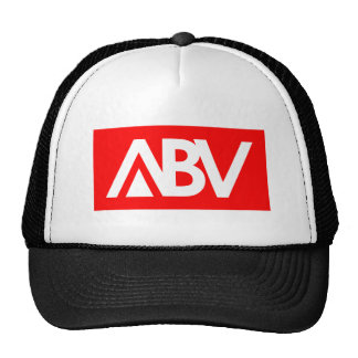ABV BLACK and RED MESH HAT