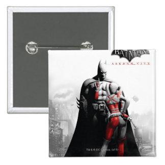 AC Poster - Batman & Harley 15 Cm Square Badge