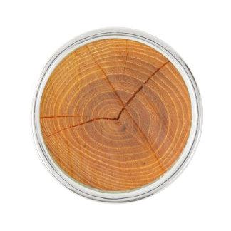 Acacia Tree Cross Section Lapel Pin