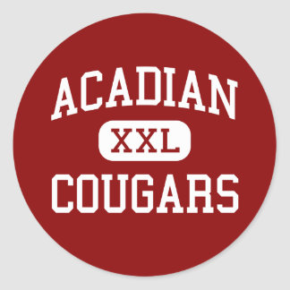 Acadian - Cougars - Middle - Lafayette Louisiana Classic Round Sticker