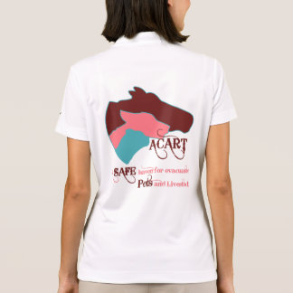 ACART - Safe Haven | Dusty Rose and Chocolate Logo Polo Shirt