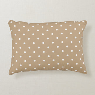 Accent Pillow - Almond 50s Polka Dot Accent Cushion