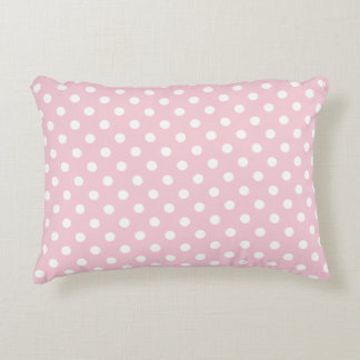Accent Pillow - Baby Pink Polka Dot Accent Cushion