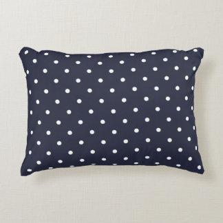 Accent Pillow - Classic Blue 50s Polka Dot