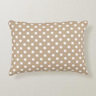 Accent Pillow - Nougat Brown Polka Dot
