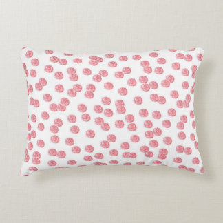 Accent pillow with red polka dots accent cushion