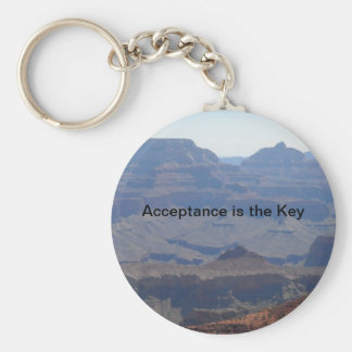Acceptance is the Key Basic Round Button Key Ring