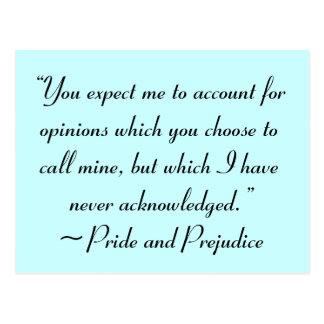 Account for Opinions Jane Austen Quote Postcard