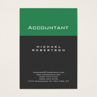 Accountant Sea Green Gray Chubby Business Card