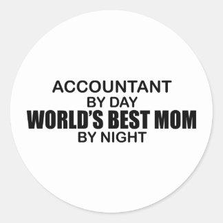 Accountant - World's Best Mom Classic Round Sticker