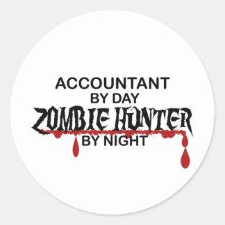 Accountant Zombie Hunter by Night Classic Round Sticker