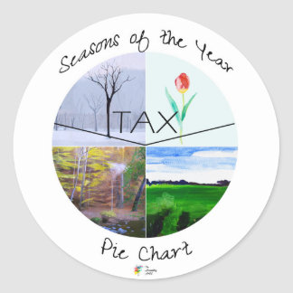 Accounting Sticker - Seasons of the Year Pie Chart