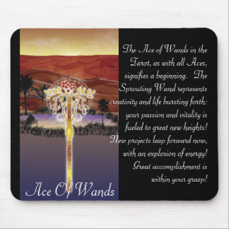 Ace Of Wands Mouse Pad