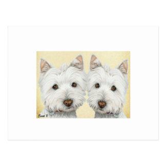 ACEO Print Cute Westie Dogs Postcard
