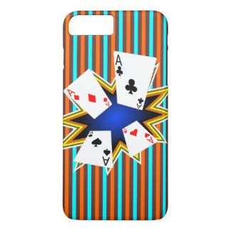 Aces on Retro background iPhone 8 Plus/7 Plus Case