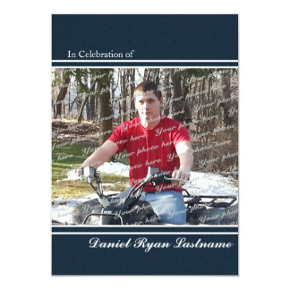 Achievement Honor with Photo 13 Cm X 18 Cm Invitation Card