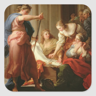 Achilles at the Court of King Lycomedes with his D Square Sticker