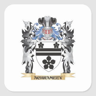 Achrameev Coat of Arms - Family Crest Square Sticker
