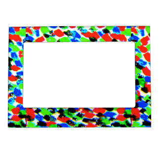 Acid Bright Spots Picture Frame Magnetic Picture Frame