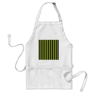 Acid Green And Vertical Black Stripes Patterns Apron