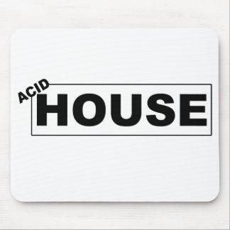 Acid House Mouse Pad - black on white