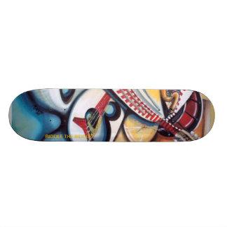 Acid Jazz by: Albert Riddle 21.3 Cm Mini Skateboard Deck