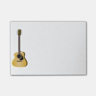 Acoustic Guitar Post-it Notes