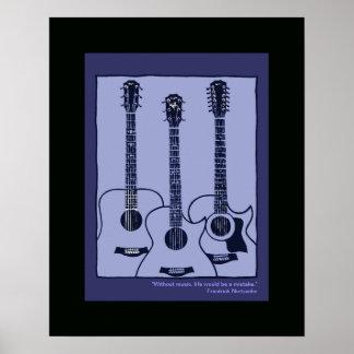 acoustic guitars decor