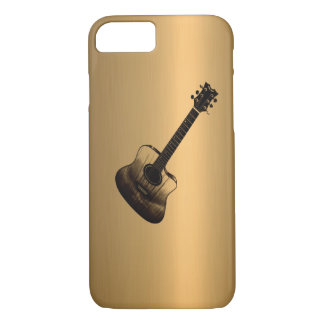 Acoustic-Style Guitar Bronze Copper Effect iPhone 7 Case