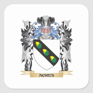 Acres Coat of Arms - Family Crest Square Sticker