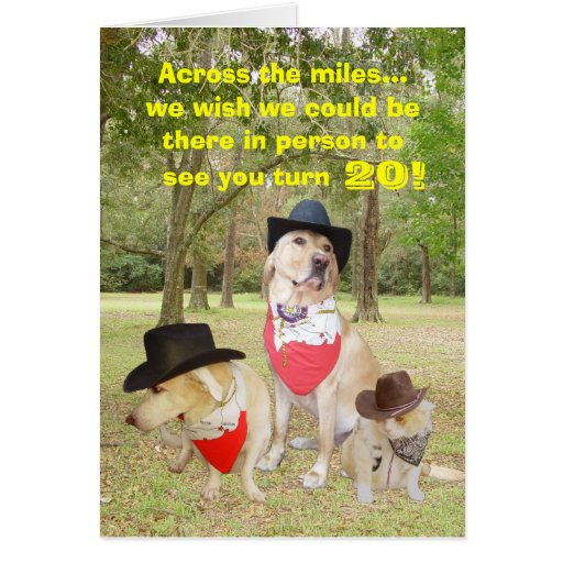 Across The Miles On Your Birthday... Greeting Cards