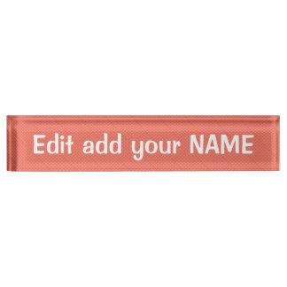 Acrylic Desk Nameplate NAME, title, logo design