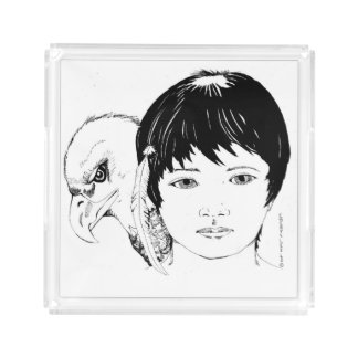 Acrylic tray with 'Boy and Eagle' image